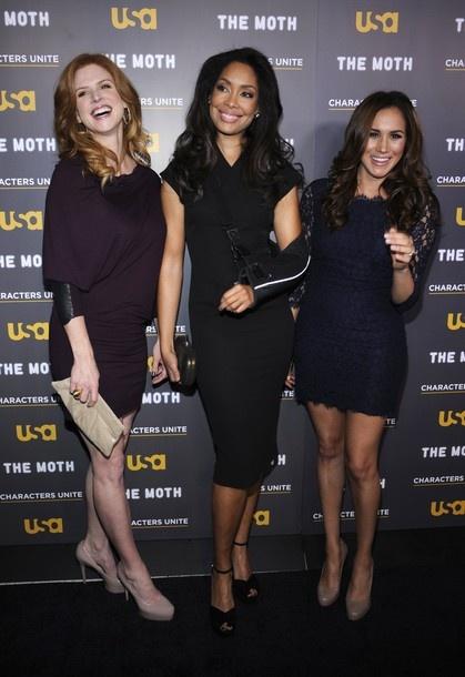 sarah rafferty, gina torres, meghan markle// these gorgeous ladies