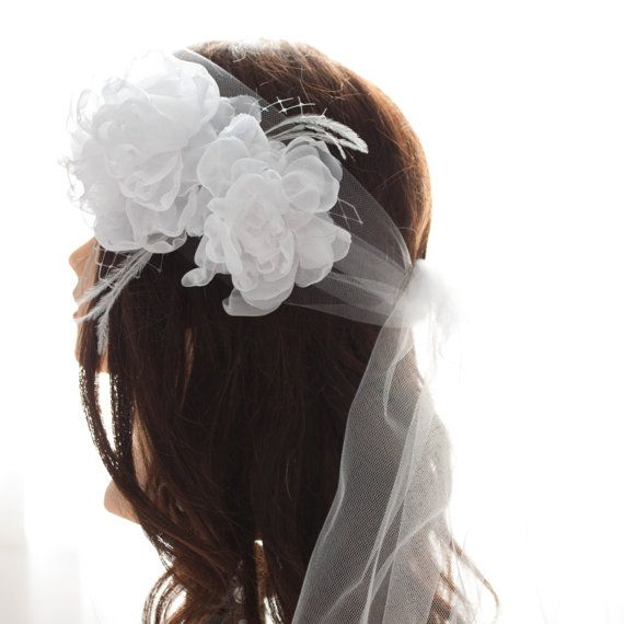 Linda Boho Style Wedding Headpiece. With by InaEvelynBoutique