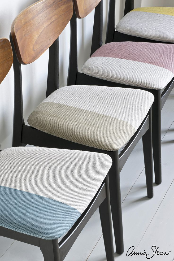 Do you like furniture with crisp lines and a streamlined look? Take a peek at these Mid-Century Modern Chairs on Annie Sloan's Paint & Colour blog where she shares how to create this painted fabric look in a few easy steps!