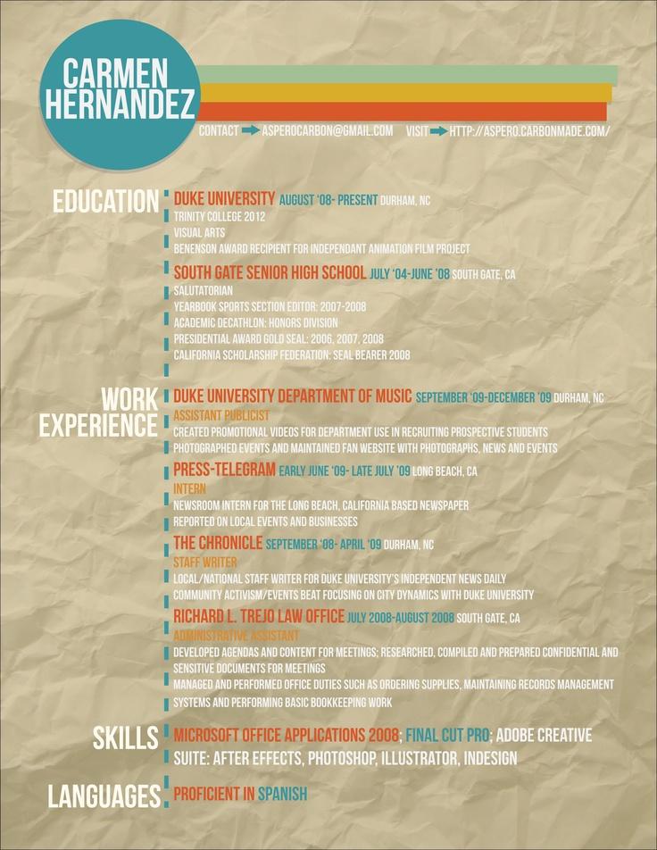 friendly resume