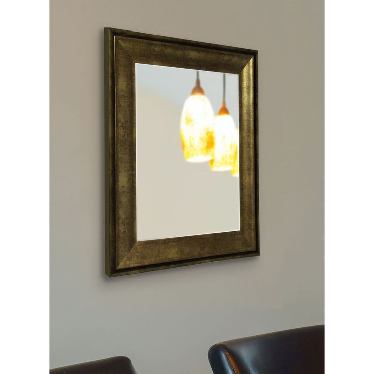 American Made Rayne Lustrous Champagne (Beige) Wall Mirror (33.5 X 39.5)