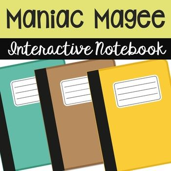 """Maniac Magee Interactive Notebook Novel Study - Low Prep and Stress-Free. Looking for the """"Maniac Magee"""" worksheet-type activities? You can find them HERE: MANIAC MAGEE NOVEL UNIT"""