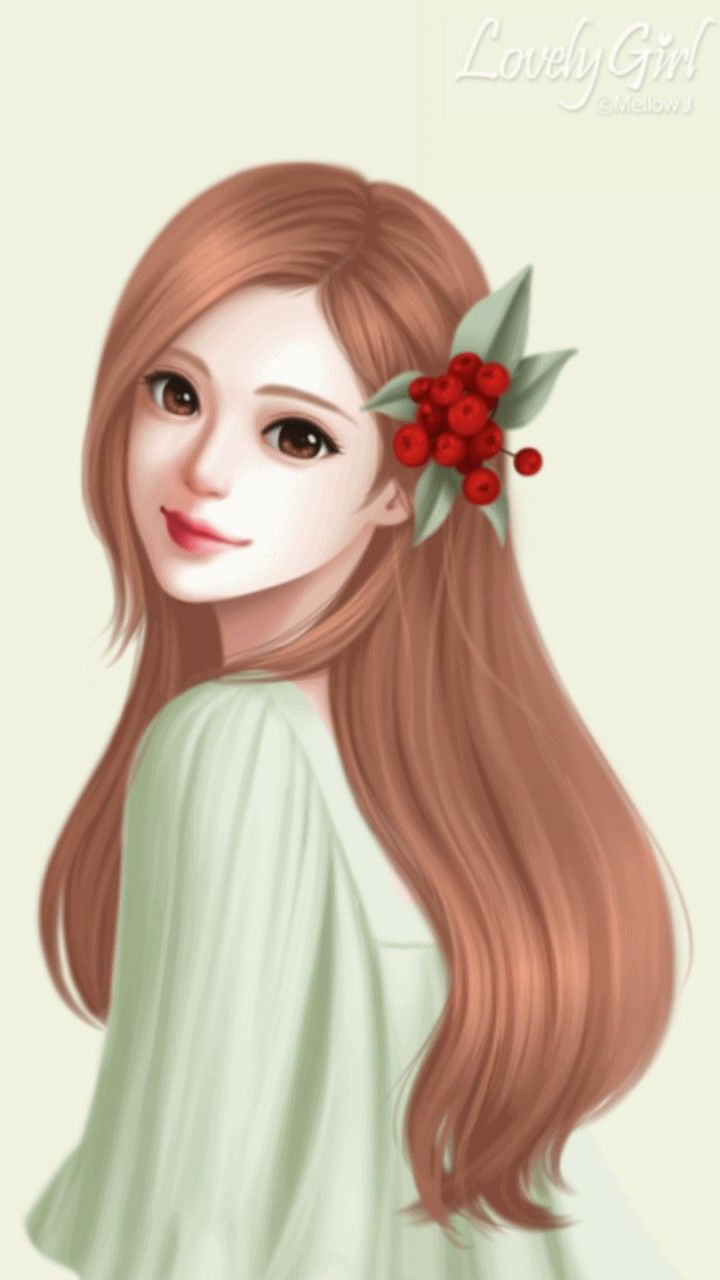 67 best qyut images on pinterest backgrounds little - Cartoon girl wallpaper ...