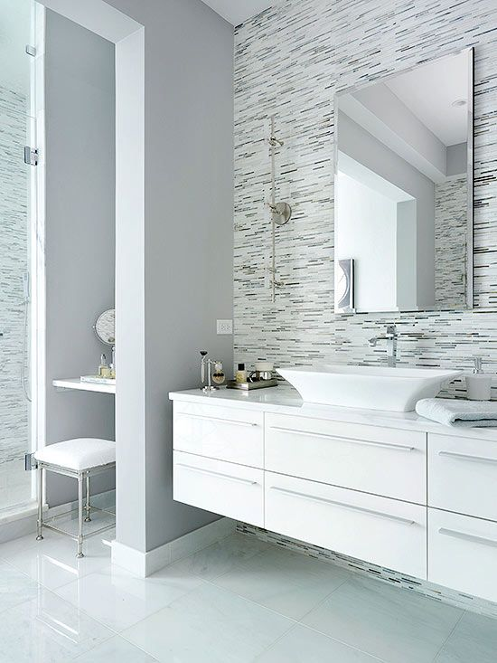 Above-counter basins and vessels are a popular choice for adding sculptural elegance to otherwise ordinary vanities: http://www.bhg.com/bathroom/type/master/master-bathroom/?socsrc=bhgpin050814asculpturalsink&page=1