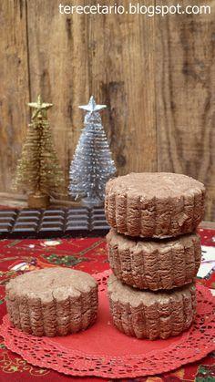 Mantecados de chocolate