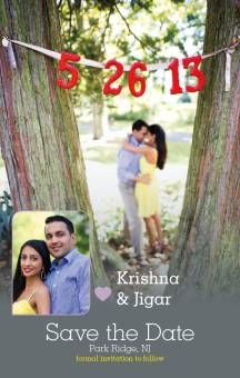 Krishna & Jigar's personalized Snapshot Sweetness Save the Date. #wedding