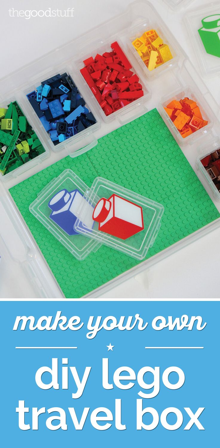 Keep the kids entertained during car rides! Step by step directions for making a lego travel box for on-the-go fun.