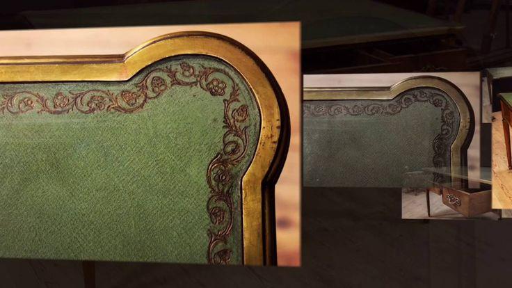 English desk of the 19th century #antiques #desk #scrittoio #scrivania #bureau #antiquariato #antiquario