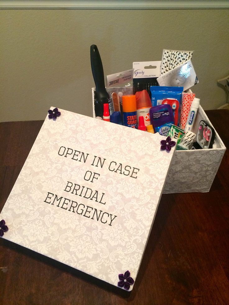 I made a wedding day emergency kit for my best friend's wedding on 11/12/13. I wanted to make sure that we had anything we might need for any issues or small m