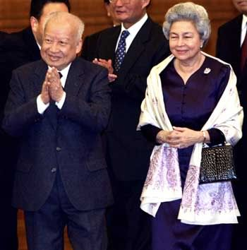 Queen Mother Norodom Monineath, with her late husband, former king Norodom Sihanouk.