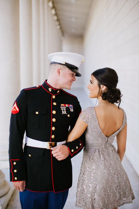 Alisha + Joey Military Engagement   Photo By Jasmine Lee Photography