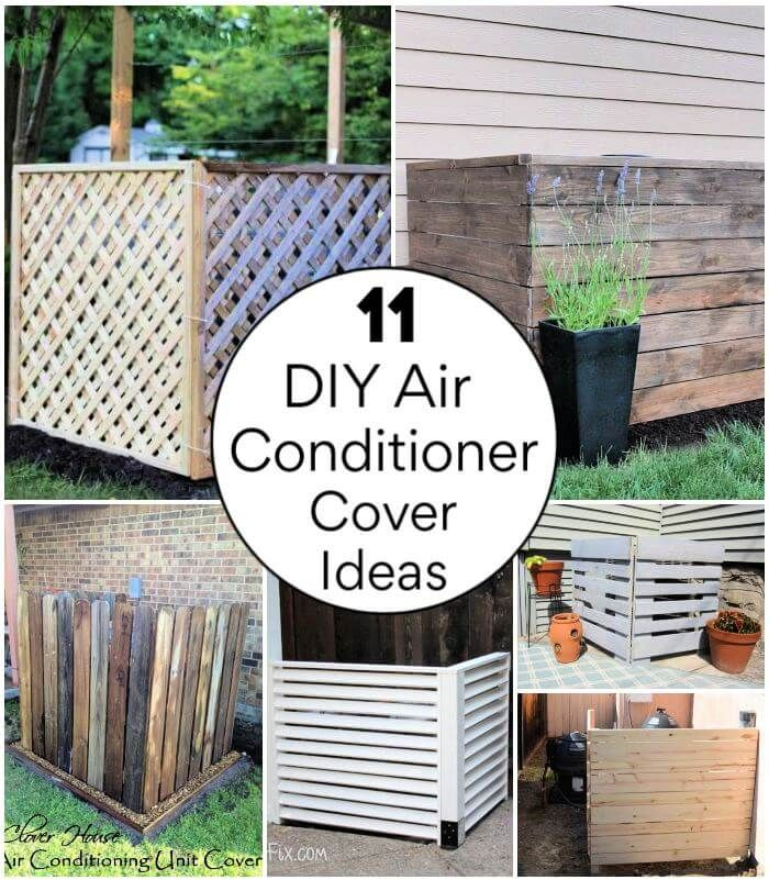 11 Diy Air Conditioner Cover Ideas Try This Weekend Air