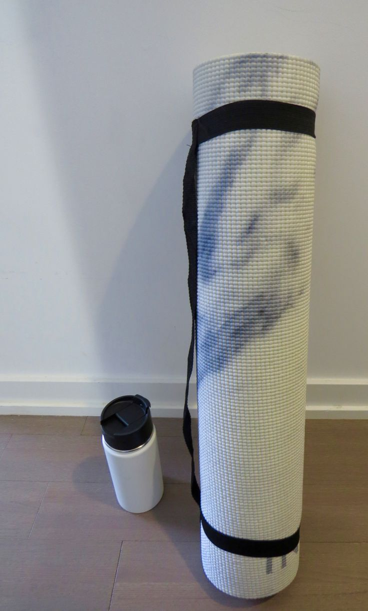 Newly purchased marble yoga mat.