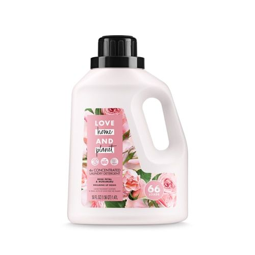 Love Home Planet 4x Concentrated Laundry Detergent Rose Petal