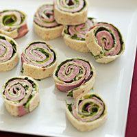 Roast beef pinwheels...Yummy!