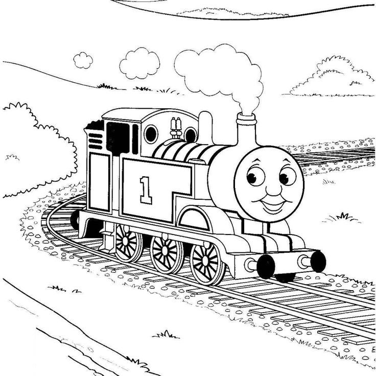 thomas the tank engine coloring pages free printable