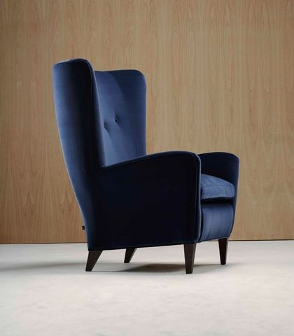 High Back Lounge Furniture Pair of High Back Lounge Chairs by