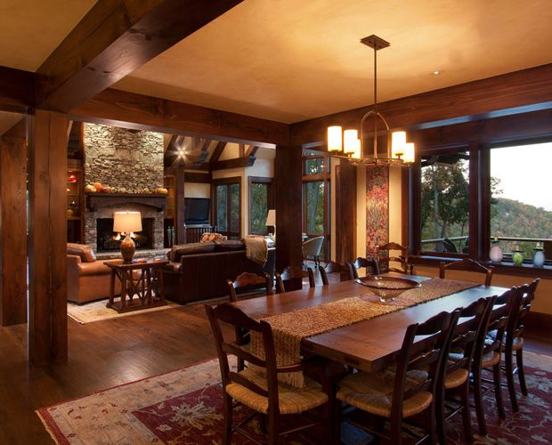 30 Best Beautiful Log Cabin Dining Rooms Images On