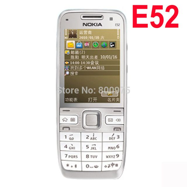 Original Nokia E52 Mobile Phone Arabic English Russian Keyboard Refurbished US $51.99-53.99 /piece To Buy Or See Another Product Click On This Link  http://goo.gl/EuGwiH