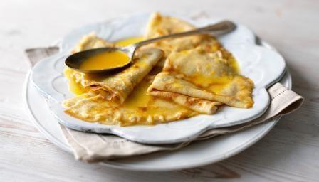 Crêpes suzette: a retro classic of #pancakes in a boozy orange sauce