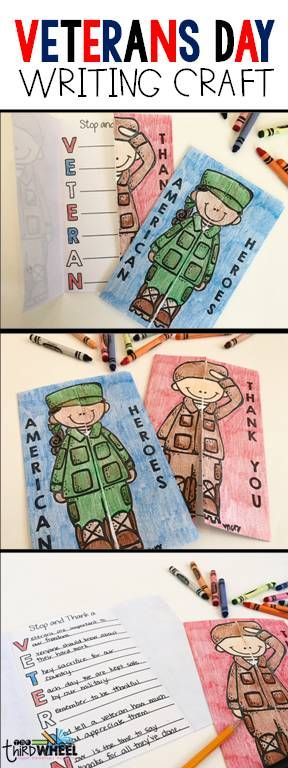 Easy, no prep Veterans Day craft for elementary kids. Perfect for the classroom bulletin board display and for Veterans Day activities. Look for further for Veterans Day ideas for 2nd, 3rd, 4th, and 5th grades. Differentiated versions to meet all learners.