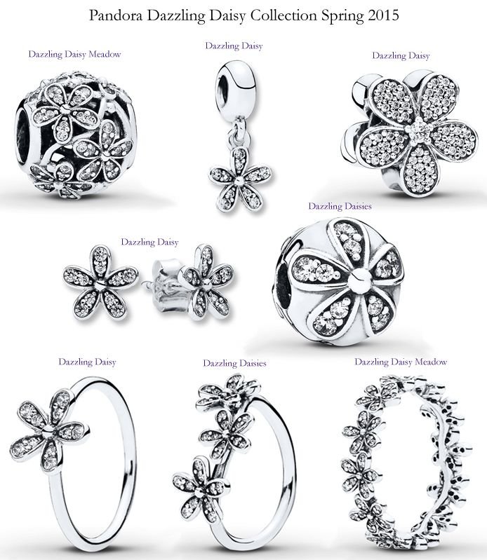 88ae4a1eb Pandora Dazzling Daisy Collection Spring 2015 | Pandora in 2019 | Pandora  jewelry, Pandora, Pandora rings