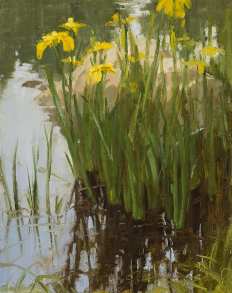 """Summer Reflection"" was completed in a workshop I was assisting with Dan Young, again with the Steamboat Art Museum."