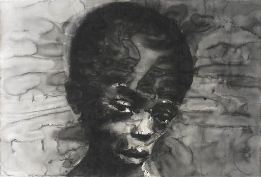 Yan Pei-Ming, Sudanese Child, 2006  Deutsche Bank Collection  © Yan Pei-Ming, ADAGP, Paris, 2009