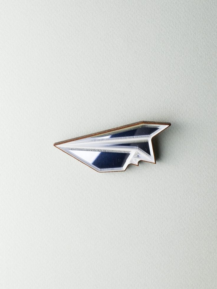 Mirror Plane Brooch  #jewelry #design #brooch