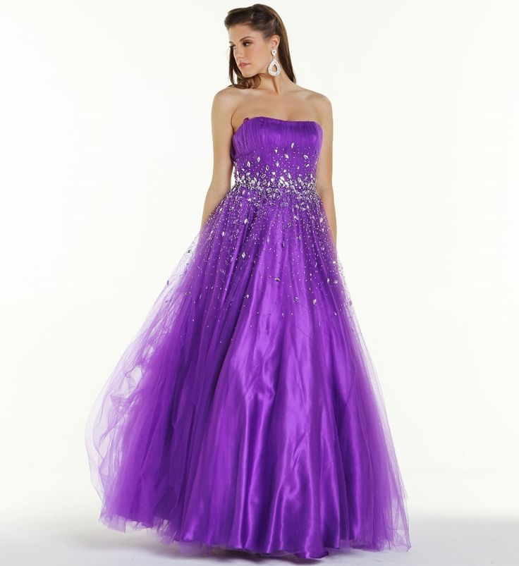 # Jeweled Full Length Prom Ball Gown