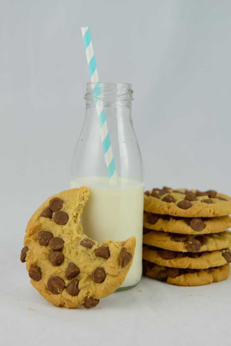 Milk and Cookies. Made by using Sweet Health's Cookie Mix in a Bottle