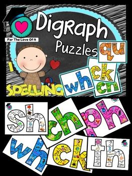 This is a set of Digraph jigsaw puzzles in A4 size. The pictures are the digraphs sounds.  Loads of fun for learners beginning to understand digraph sounds. For words their way users, this is perfect for Emergent - Late and Letter name alphabet - Early.These work best copied onto A3 size card and laminated!Could also be used as charts for bulletin boards.