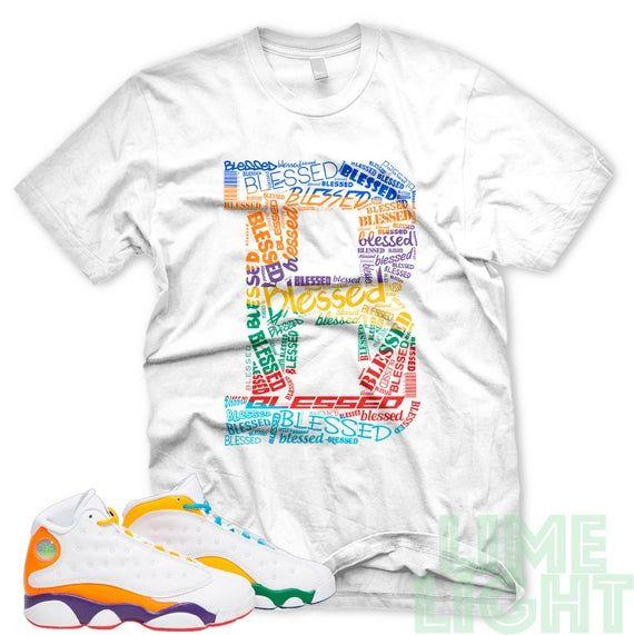 Air Jordan 13 Retro Playground Be Blessed White Sneaker T Shirt