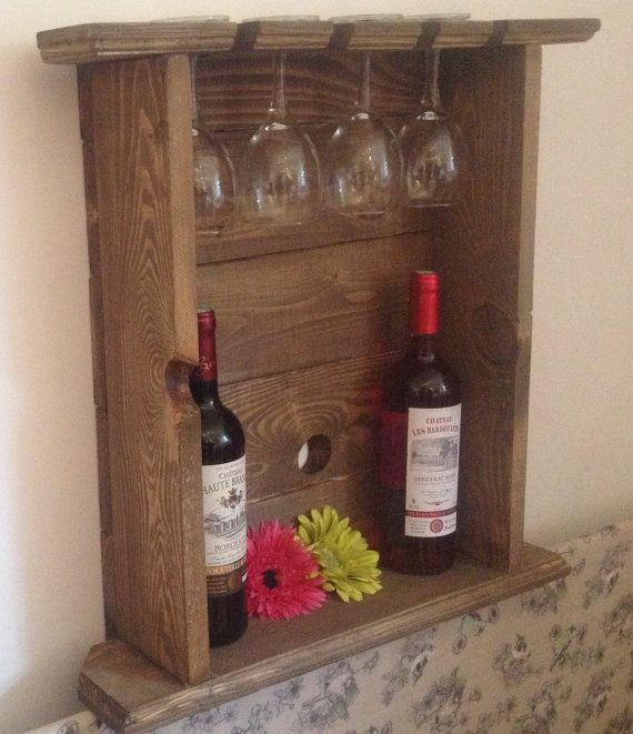 I Want A Wine Rack Just Like This That Holds Bottles And Glasses