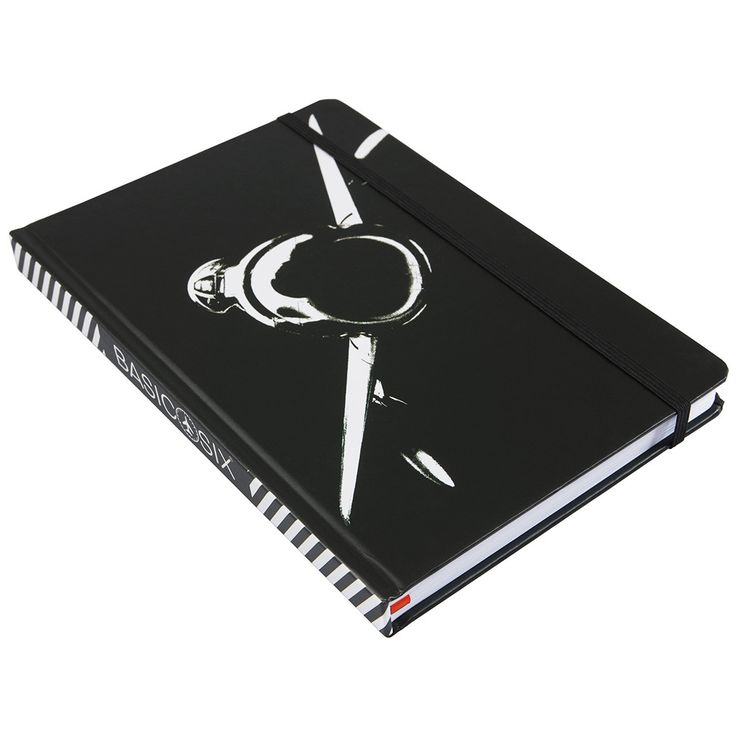 North American F-86 Warbird USAF Aviation Notebook by Basic Six with chevron spine - side view