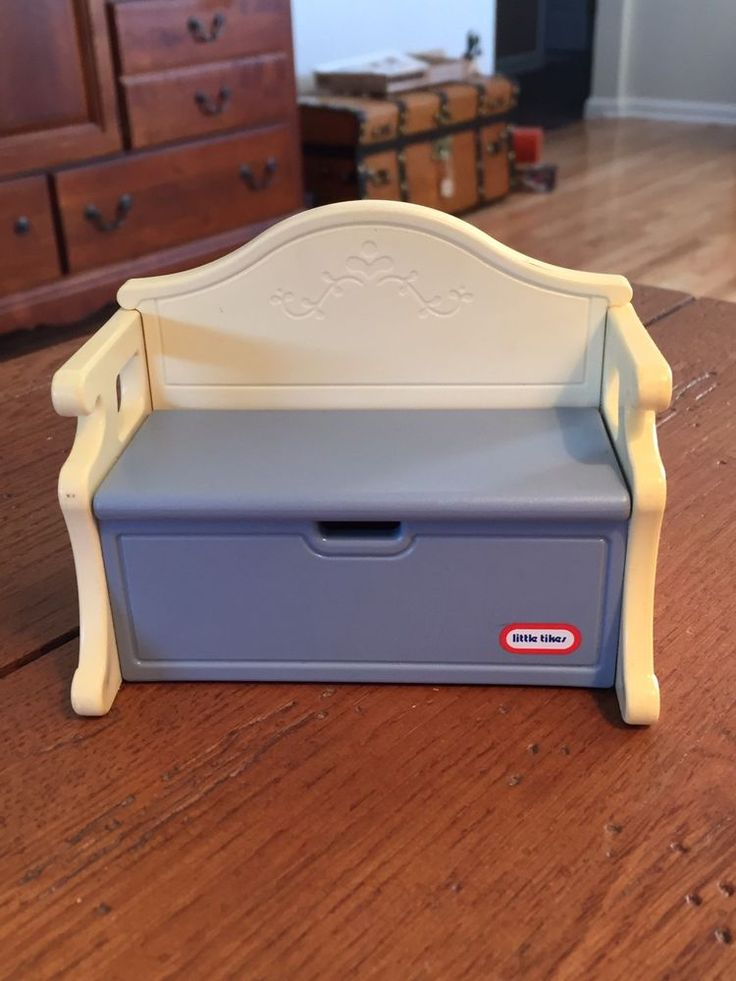Vintage Little Tikes Grand Mansion Dollhouse Victorian Toy Box bench Furniture  #LittleTikes