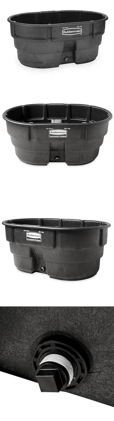 Storage Boxes 159897: Rubbermaid Fg424500bla Stock Tank, L 58 , W 39, Cap 150 Gal, Black -> BUY IT NOW ONLY: $188.77 on eBay!