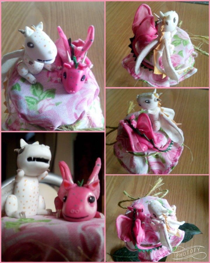 Polymer Clay Porcelana Fria Dragons Dragones Masa Flexible