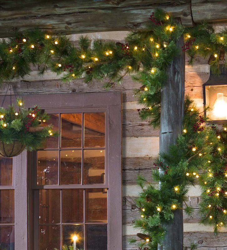 lighted outdoor battery operated holiday garland with auto timer christmas lights decorating wayfair patio