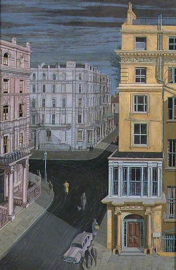 """""""Bayswater"""" by Noël Spencer, 1960 (tempera on board)"""