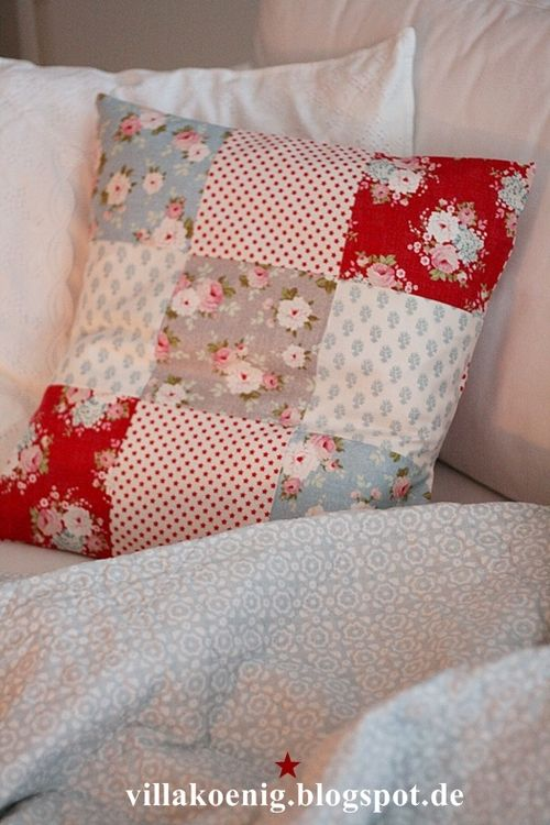 Maybe I'll make a cushion to go with the patchwork quilt...