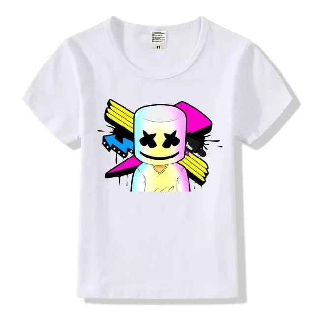 Marshmallow Costume Kids T Shirts Dj Marshmallow Cartoon Shirts