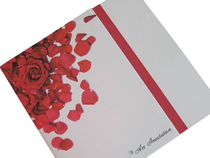 Rose Petal wedding invitation  www.indigoflash.co.uk