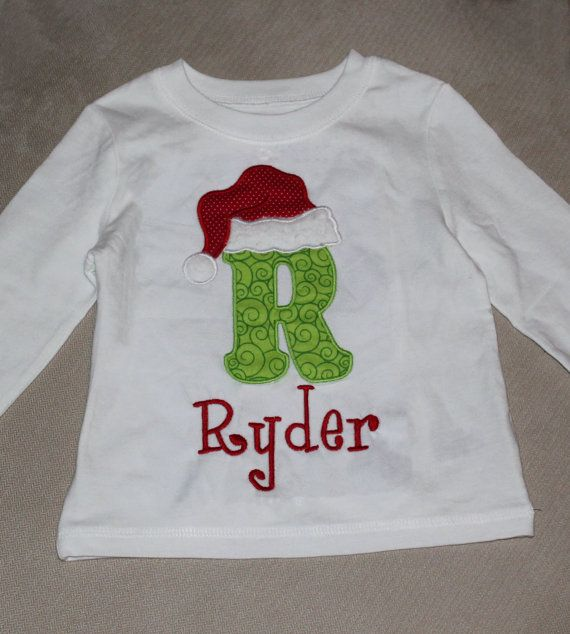 christmas shirt with santa hat longsleeve tshirt for by burpsetc   28 00