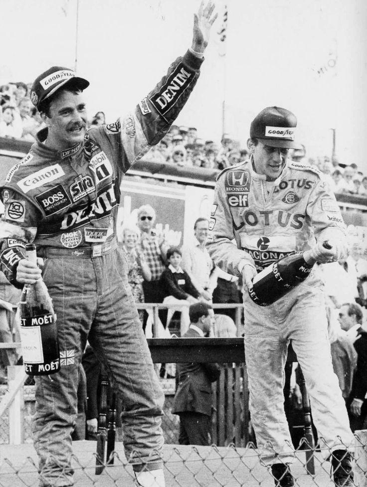 Nigel Mansell & Ayrton Senna, Silverstone, 1987 - We Remember this Race Vividly #RacingLegends