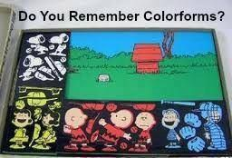Colorforms were the best!  I had this set along with many others.  We didn't need electronic toys to keep us happy back in the 70's.