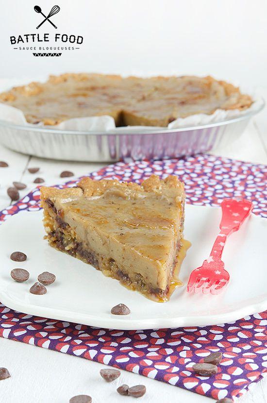 Cookie Pie [Tarte Pâte à Cookies et Crème de Banane] @ VG-Zone.net #végétal #vegan #recette #sucré