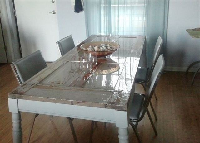 turn old doors into kitchen table - Google Search