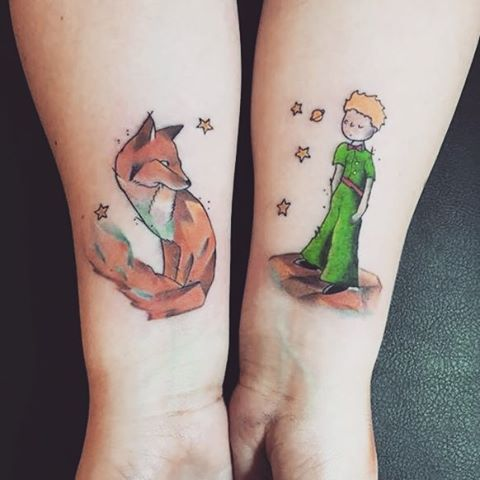 Pin for Later: 26 Nostalgic The Little Prince Tattoos That You Need Right Now Little Prince and Fox Art