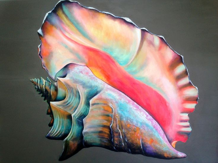 conch shell paintings - Google Search